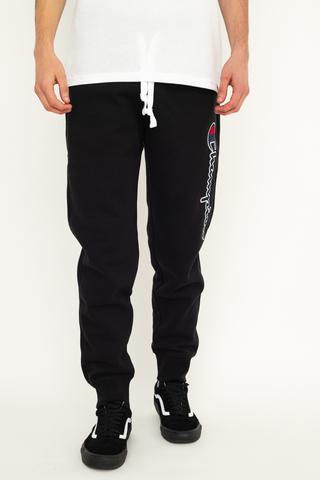 Spodnie Champion Organic Cotton Blend Vertical Script Logo Joggers
