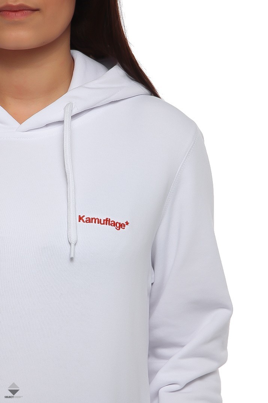 biała bluza damska z kapturem kamuflage