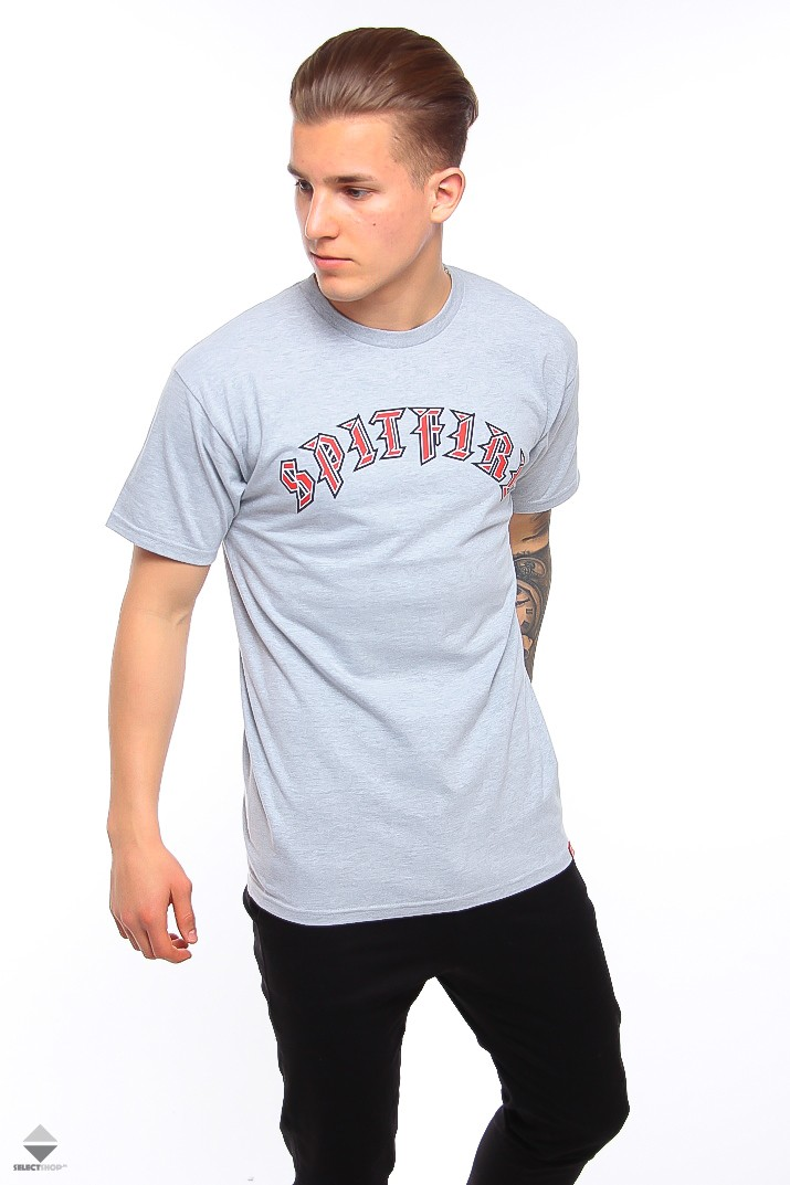 7bc21016d Koszulka T-shirt Spitfire Old E Fill Grey 5101062609