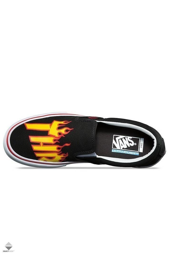Vans Slip On Pro (Thrasher) Black with Flames