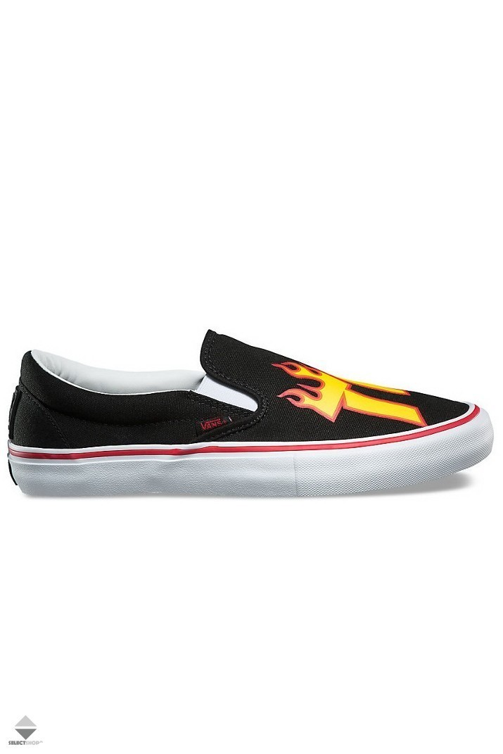 Details about NEW Vans x Thrasher Slip On Pro men's skateboard shoe old skool classic black