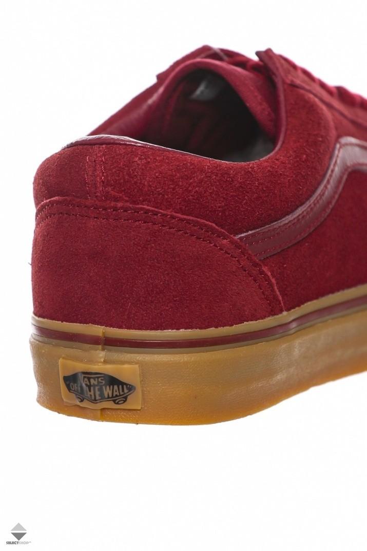 burgundy vans old skool gum sole
