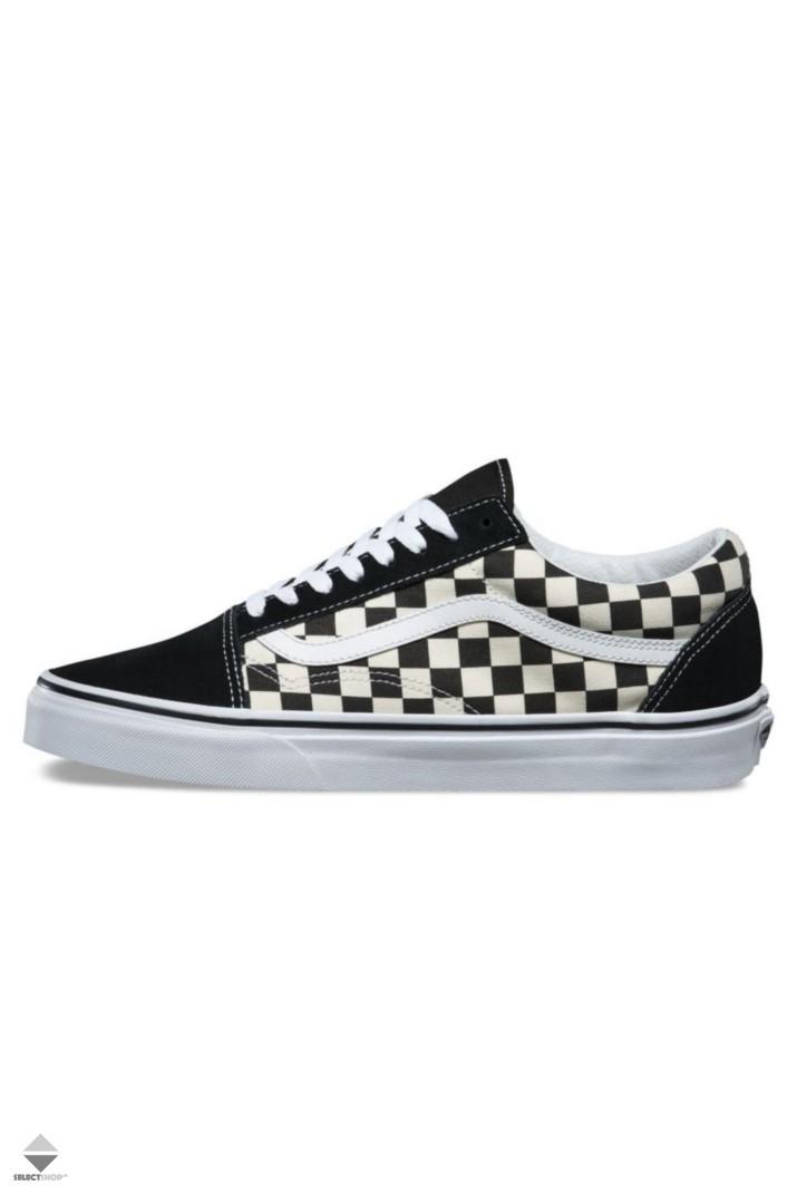 buty vans checkerboard old skool czarne damskie