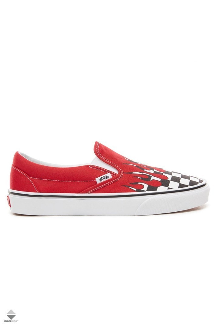 Slip On 'Checker Flame'