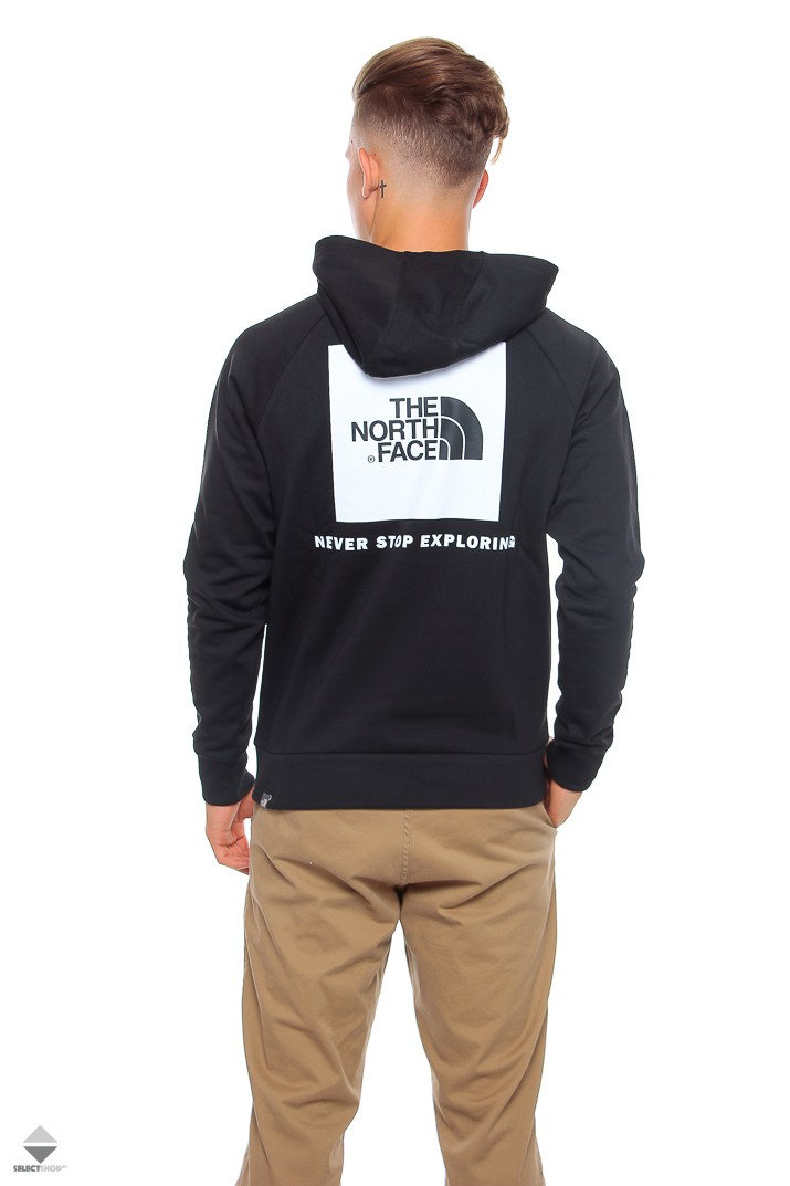 The North Face Raglan Red Box Hoodie Black
