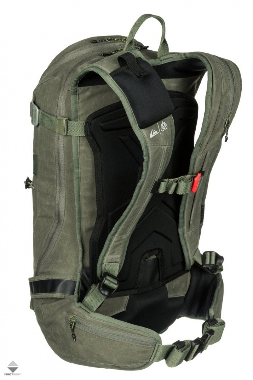 ab59837d37a16 Plecak Snowboardowy Quiksilver Platinum 24L EQYBP03132-CSN0 Green