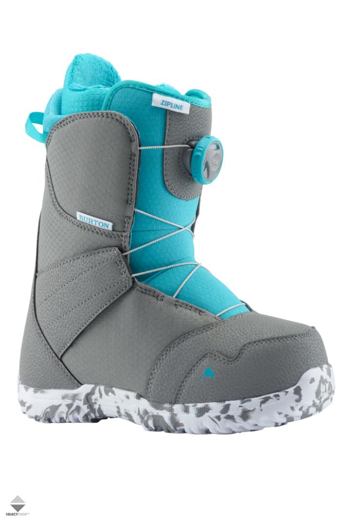 Buty Snowboardowe Dzieciece Burton Zipline Boa 13191104045 Gray Surf Blue
