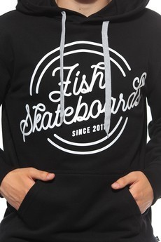 Bluza Kaptur Fish Skateboards Retro Logo